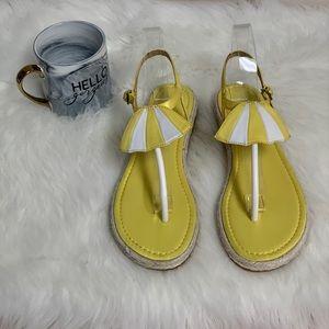 Katy Perry Yellow Umbrella Sandals Flip Flops